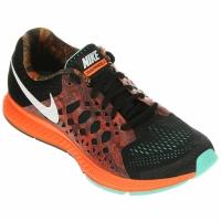 f2b2040af75a1 Tênis Nike Zoom Pegasus 31 Print Feminino Preto e Laranja