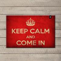 Capacho Decorativo 4Mac Keep Calm And Come In 60x40cm