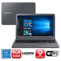 Notebook Samsung Essentials E20 NP350XAA-KDABR Dual Core 3865U 4GB 500GB 15.6 Windows 10 Grafte