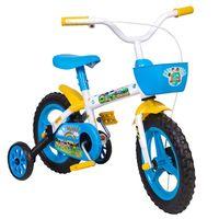 Bicicleta Infantil Styll Aro 12 Branco e Azul Claro