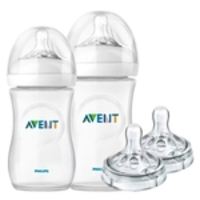 02 Mamadeira Petala Anticolica Avent 260/330ml Kit Bico N.4
