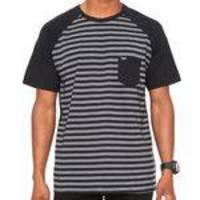 b119d32a8d748 Camiseta Hurley Especial Stripe Preta Cinza