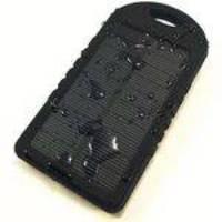 Carregador Solar Universal Celular Bateria Portatil Tablet Power Bank Preto