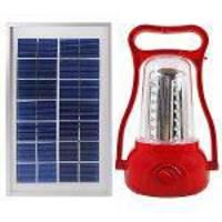 Lampião Vermelho 35 Leds Com Placa Solar Recarrega Celular