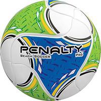 Bola Penalty de Futebol de Areia Pro Termotec Branca Azul e Verde