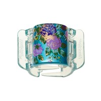 Prendedor para Cabelos Linziclip Bloom Flower Pearlised Sea Blue Bloom