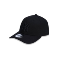 Bone 9forty Aba Curva Ajustavel Mlb New York Yankees Aba Curva Snapback Preto New Era