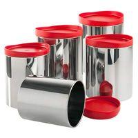 Conjunto De Potes Para Mantimentos Brinox Suprema 5 Peças Vermelho