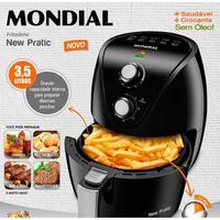 Fritadeira Elétrica Sem Óleo Air Fryer Mondial New Pratic AF31 3,5 Litros Preta 220V