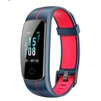 Relógio Smartwatch Id107 Plus Color Monitor Cardíaco (Azul e vermelho)