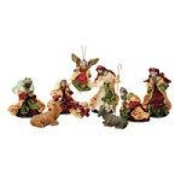Presépio Magizi Plus Seda 9 Figuras 15 cm Vinho / Verde 18840