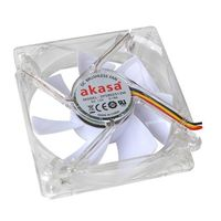Fan para Gabinete AKASA 80mm AK-FN054 LED Branco