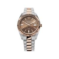 3bd84be5f9a9d Relógio Technos Prateado E Rose Feminino Elegance Riviera Analógico  2115kts 3m