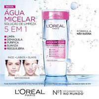 Água Micelar L'Oréal Paris Solução de Limpeza Facial 5 em 1 200ml