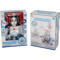 Robô Dançarino Elétrico Capable com Som e Luz Azul e Prata