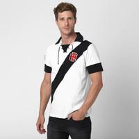 Camisa Polo Vasco Cordinha Masculina Branca  ae491e13be04e