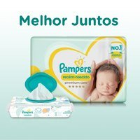 Fralda Pampers RN+ Premium Care Pacotão 20 Unidades
