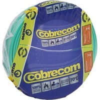 CABO DE ENERGIA 750V 6MM² FLEXICOM COM 50 METROS VERDE 516257 Cobrecom