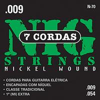 Cordas Nig Strings para Guitarra Elétrica de 7 Cordas 009-054
