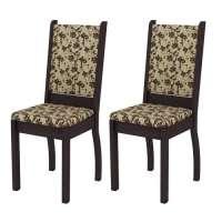 Conjunto 2 Cadeiras 4238x Madesa Tabaco bege marrom
