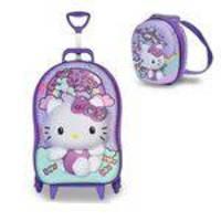 Mochila Mochilete Escolar 3d E Lancheira Maxtoy Hello Kitty Rainbow