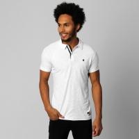 Camisa Polo Vasco Basic Plaquinha Masculina Branca  a9b01a6b2e979
