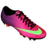Chuteira de Campo Nike Mercurial Veloce SG Pro Masculina Rosa e Verde 6951e2bbe4a56