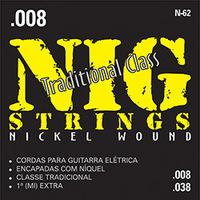 Cordas para Guitarra Nig Strings Elétrica 008 - 038 Tradicional