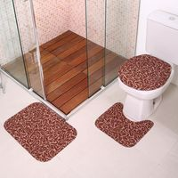 Jogo para Banheiro Silver Antiderrapante Havan Caramelo Caramelo