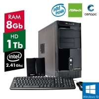 Computador Certo PC Fit 079 Dual Core J1800 2 41GHz 8GB 1TB Windows 10