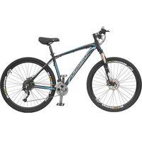 Bicicleta Over First Mega Bike Mega Alumínio Disco Hidraulic Aro 29 27 Marchas Preta e Azul
