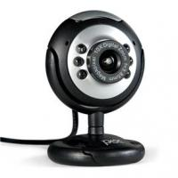 Webcam Pisc 1818 1.3MP Preto e Prata