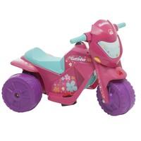 Moto Elétrica Infantil Bandeirante Gatinha Rosa