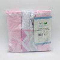 Kit Manta Cueiro 3 Und Flanelado Chevron Rosa - Baby Joy Ref 0412150101-0001