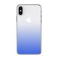 Película De Vidro Traseira 3d Degrade Baseus 0.30mm Gradient Para Iphone X Azul