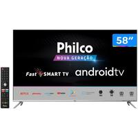 Smart TV 4K LED 58 Philco PTV58G71AGBLS Android - Wi-Fi e Bluetooth HD