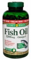 Oleo de Peixe Nature´s Bounty Fish Oil 1200mg 320 Softgels