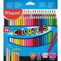 Lápis de Cor Triangular 48 Cores Maped Color Peps