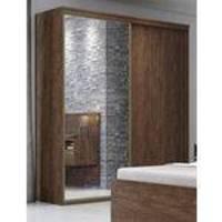 Roupeiro Inovatto 2 Portas Porta Espelho Marsala 2,07m 510155 Belmax