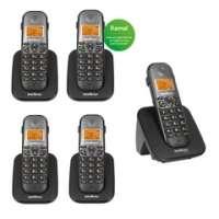 Telefone Intelbras TS5120 Identificador de Chamadas Preto + 04 Ramais TS5121