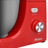 Batedeira Planetária Philco Turbo PH500 Vermelha e Inox