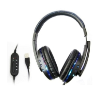 Fone Gamer Headphone Knup Kp-359 Usb Pc/Ps3/Ps4 Azul
