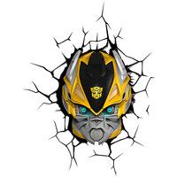 Luminária de Parede 3D Light FX Escudo Bumblebee Amarelo