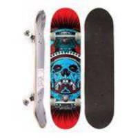 Skate Montado Completo Reality Semi Profissional Skull Blue