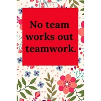 No Team Works Out Teamwork.: Blank Lined Journal Coworker Notebook (Gag Gift for Your Not So Bright Friends and Coworkers)