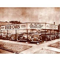 Pôster Used Cars, Lee de Vary Sépia Classic Photos