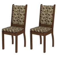 Conjunto 2 Cadeiras 4238x Madesa Rustic bege marrom