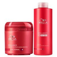 Kit Shampoo + Máscara Wella Professionals Brilliance