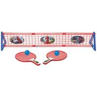 Kit Ping Pong Tênis de Mesa Lider Marvel Spiderman 5 Peças