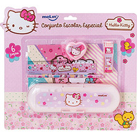 Kit Escolar Molin Especial Hello Kitty 6 Peças